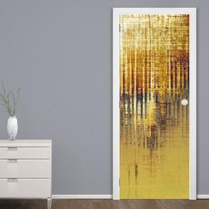 Αυτοκόλλητο Πόρτας Gold Grunge Stripes - Decotek 20126