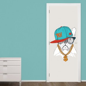 Αυτοκόλλητο Πόρτας Hip Hop Dog - Decotek 20132
