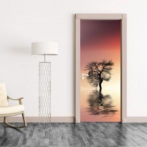 Αυτοκόλλητο Πόρτας Lonely Tree - Decotek 20136