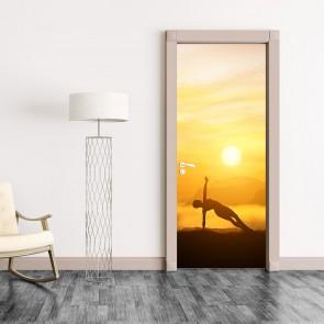 Αυτοκόλλητο Πόρτας Meditating - Decotek 20140