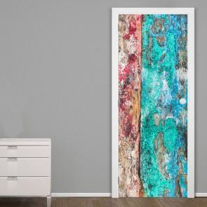 Αυτοκόλλητο Πόρτας Painted Wood - Decotek 20150