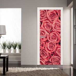 Αυτοκόλλητο Πόρτας Pink Roses- Decotek 20153