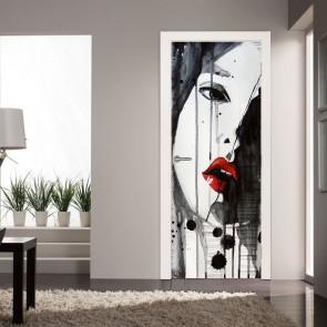 Αυτοκόλλητο Πόρτας Red Lips - Decotek 20155