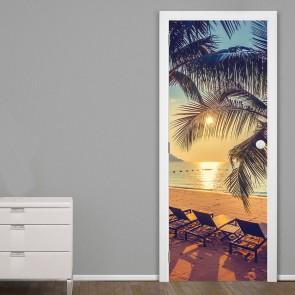 Αυτοκόλλητο Πόρτας Relax by the Beach- Decotek 20156