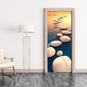 Αυτοκόλλητο Πόρτας Step Stones Sunset - Decotek 20161