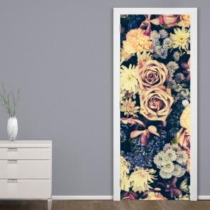 Αυτοκόλλητο Πόρτας Vintage Flower Background - Decotek 20164