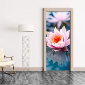 Αυτοκόλλητο Πόρτας Water Flower- Decotek 20170