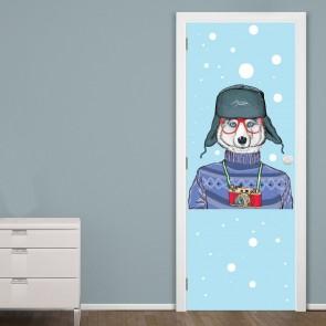 Αυτοκόλλητο Πόρτας Winter Husky - Decotek 20173