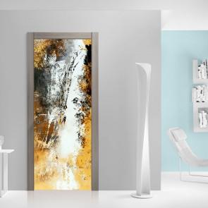 Αυτοκόλλητο Πόρτας Yellow and Beige Abstract - Decotek 20175