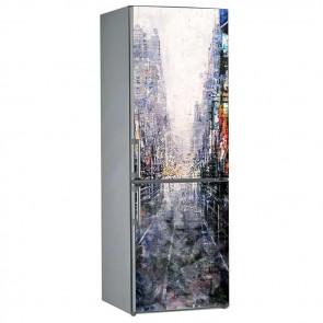 Αυτοκόλλητο Ψυγείου Modern City On Canvas - Decotek 19071