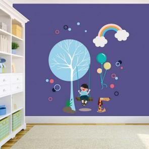 Decotek Vinyl Αυτοκόλλητο Παιδί στην Κούνια