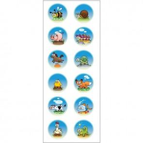 Decotek Vinyl Αυτοκόλλητο Ζωάκια σε Φούσκες