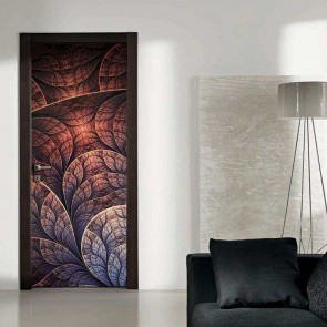 Αυτοκόλλητο Πόρτας Fractal Petals Decotek