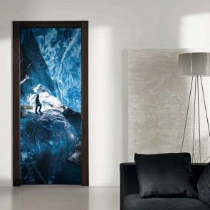 Αυτοκόλλητο Πόρτας Ice Cave Decotek