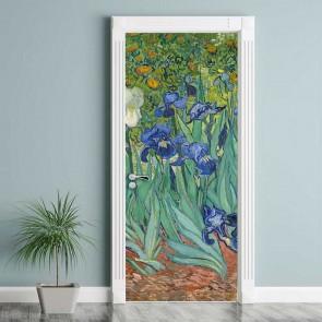 Αυτοκόλλητο Πόρτας Irises - Decotek 17747