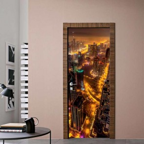 Αυτοκόλλητο Πόρτας Skyscrapers - Decotek 17749