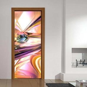 Αυτοκόλλητο Πόρτας Pink Whirl - Decotek 17753