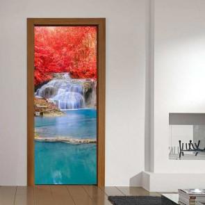 Αυτοκόλλητο Πόρτας Waterfall - Decotek 17755