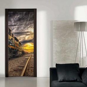 Αυτοκόλλητο Πόρτας Somber Train - Decotek 17758