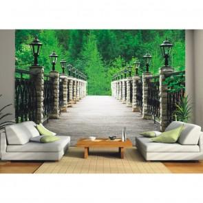 Φωτοταπετσαρία Τοίχου Γέφυρα στην φύση - A&G Design Group - Decotek FT 0348