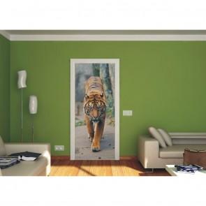 Φωτοταπετσαρία Πόρτας & Τοίχου Τίγρη - A&G Design Group - Decotek FTV 0001