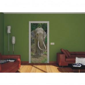 Φωτοταπετσαρία Πόρτας & Τοίχου Ελέφαντας - A&G Design Group - Decotek FTV 0208