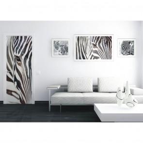Φωτοταπετσαρία Πόρτας & Τοίχου Ζέβρα - A&G Design Group - Decotek FTV 0211