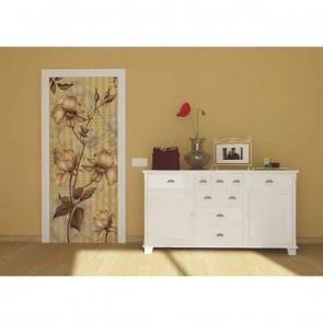 Φωτοταπετσαρία Πόρτας & Τοίχου Φλοράλ - A&G Design Group - Decotek FTV 0217