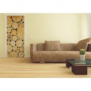Φωτοταπετσαρία Πόρτας & Τοίχου Ξύλο - A&G Design Group - Decotek FTV 0228