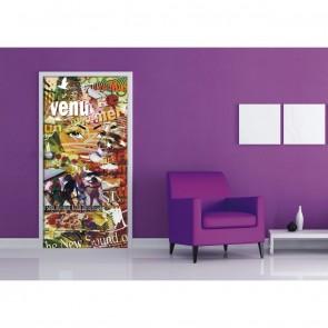 Φωτοταπετσαρία Πόρτας & Τοίχου Μοντέρνα Εφηβική - A&G Design Group - Decotek FTV 0292