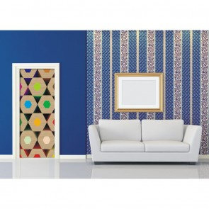 Φωτοταπετσαρία Πόρτας & Τοίχου Μολύβια - A&G Design Group - Decotek FTV 0293