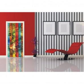 Φωτοταπετσαρία Πόρτας & Τοίχου Ξύλο - A&G Design Group - Decotek FTV 0298