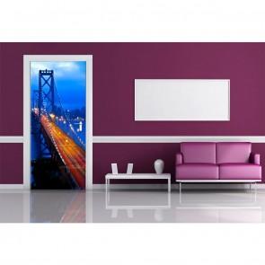 Φωτοταπετσαρία Πόρτας & Τοίχου Γέφυρα του Μπρούκλιν - A&G Design Group - Decotek FTV 1517