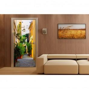 Φωτοταπετσαρία Πόρτας & Τοίχου Σοκάκι σε νησί - A&G Design Group - Decotek FTV 1518