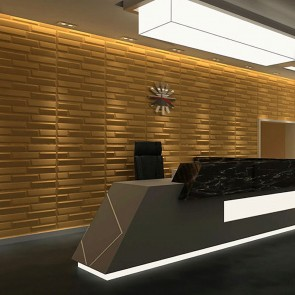 3D Πάνελ - 3D Art Panel - Decotek Gold