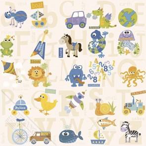 Παιδική Ταπετσαρία Τοίχου Ζωάκια - Behang Expresse, My Adventures - Decotek MA66131