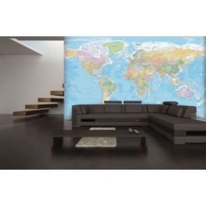 Φωτοταπετσαρία Τοίχου Χάρτης - 1wall - Decotek NW8P-BLUEMAP-007