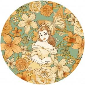 Παιδική Φωτοταπετσαρία Τοίχου Belle η Πεντάμορφη - Komar, DOT - Decotek DD1-002 (Ø 125 cm)