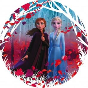 Παιδική Φωτοταπετσαρία Τοίχου Frozen Έλσα και Άννα - Komar, DOT - Decotek DD1-006 (Ø 125 cm)