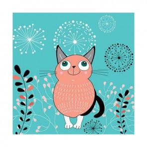 Παιδικός Πίνακας Ζωγραφικής Happy Cat - Decotek 16002