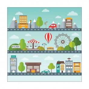 Παιδικός Πίνακας Ζωγραφικής City Life - Decotek 16003