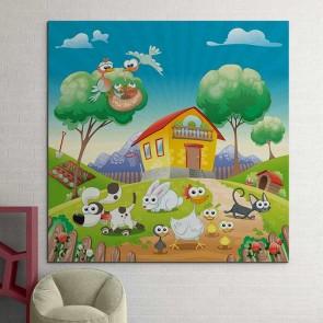 Παιδικός Πίνακας Ζωγραφικής Farm - Decotek 16010