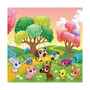 Παιδικός Πίνακας Ζωγραφικής Cute Animals - Decotek 16012