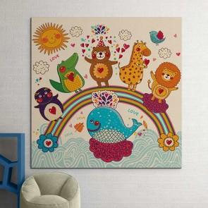 Παιδικός Πίνακας Ζωγραφικής Happy Animals - Decotek 16013
