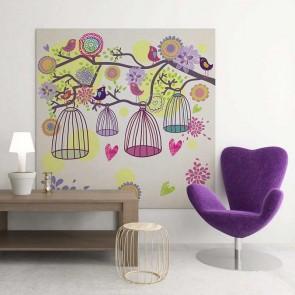 Παιδικός Πίνακας Ζωγραφικής Birds and Flowers - Decotek 16014