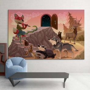 Παιδικός Πίνακας Ζωγραφικής Colorful Animals and Music - Decotek 16017