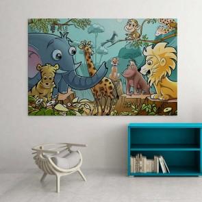 Παιδικός Πίνακας Ζωγραφικής Jungle - Decotek 16018