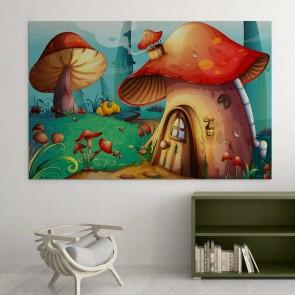 Παιδικός Πίνακας Ζωγραφικής Μushroom House - Decotek 16020
