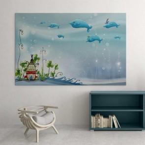 Παιδικός Πίνακας Ζωγραφικής Fairy House - Decotek 16022