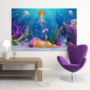 Παιδικός Πίνακας Ζωγραφικής Little Mermaid - Decotek 16026